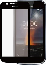 Azuri Tempered Glass flatt RINOX ARMOR - zwarte frame - voor Nokia 1
