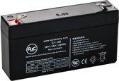 AJC® battery compatibel met Detex EA2500S 6V 1.3Ah Noodverlichting accu