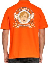 Willems Drinking Team poloshirt heren -  heren polo -  Koningsdag kleding 2XL