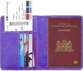 Paspoorthouder / Paspoorthoesje / Passport Wallet - V1 - Paars