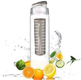 XL Fruitwater Fruit Filter Fles Infuser Met Drinkdop - BPA Vrij - Fruitfilter Sport Drinkfles - 800 ML