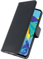 Huawei P30 Wallet Case Hoesje Zwart