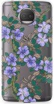 Motorola Moto G5S Plus Hoesje Purple Flowers