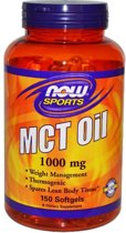 MCT olie 1000 mg (150 gelcapsules) - Now Foods Sports