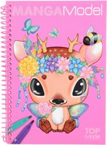 MangaModel pocket kleurboek roze