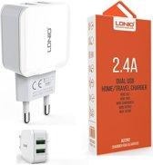 LDNIO A2202 oplader met 1 laadsnoer Micro USB Kabel geschikt voor o.a Nokia 1 2 2.1 3 3.1 5.1 6 3310