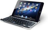 Avanca Tablet Case en Bluetooth Toetsenbord - Qwerty - Aluminium - 40 uur Werktijd - iPad Mini 1/2/3- Zilver