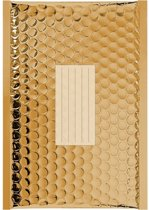 100 x Goud metallic luchtkussen enveloppen B/00 - 210x120mm - zelfklevende strip - Office Depot / Viking