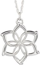 Necklace Flower Silver