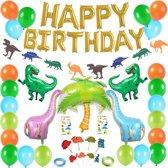 XXL Dino Verjaardag Feestje Decoratie - Happy Birthday Party Slinger - Versiering Ballonnen - Jongen