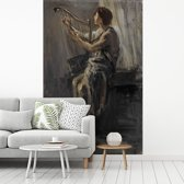 Fotobehang vinyl - David - Schilderij van Jozef Israëls breedte 175 cm x hoogte 270 cm - Foto print op behang (in 7 formaten beschikbaar)