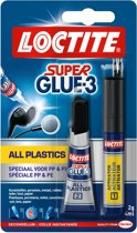 Loctite Plasticlijm Super Glue All Plastic - Plastic lijm - 2Gr+4Ml