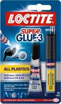 Loctite Plasticlijm Super Glue All Plastic - Plastic lijm - 2Gr+4Ml