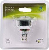 Lucide CFL BULB - Spaarlamp - Ø 5 cm - GU10 - 1x8W 6500K - Wit