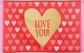 Romatische vlag Love You - Feestdecoratievoorwerp