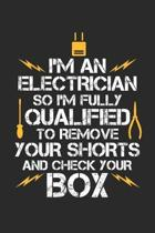 I'm An Electrician So I'm fully qualified: Electrical Engineering ruled Notebook 6x9 Inches - 120 lined pages for notes, drawings, formulas - Organize
