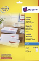 Avery White Address Label - Inkjet - Ref J816-10
