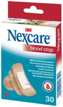 Nexcare™ Blood-Stop Bloedstop pleisters, huidkleurig, assortiment, 30 pleisters, N1730AS