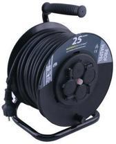 ETM Professionele Kabelhaspel - 25m met 3 x 1.5 mm2 Neopreen Snoer - Zwart