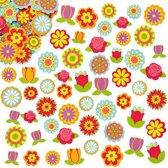 Foam stickers bloem   (144 stuks per verpakking)
