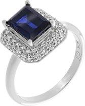 Orphelia ZR-7237/SA/58 Zilver Ring Square Sapphire Zirconium