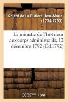 Le Ministre de l'Int rieur Aux Corps Administratifs, 12 D cembre 1792