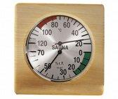 Hygro en thermometer vierkant 17 cm