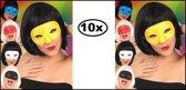 10x Oogmasker domino assortie kleuren