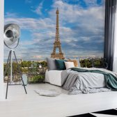 Fotobehang Paris Eiffel Tower | V4 - 254cm x 184cm | 130gr/m2 Vlies