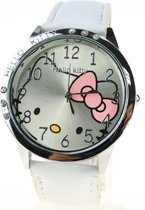 Hidzo Horloge Hello Kitty ø 37 mm - Wit - Kunstleer