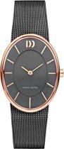 Danish Design IV71Q1168 horloge dames - zwart - edelstaal PVD ros�