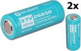 2 Stuks Olight 26650 4500mAh oplaadbare batterij voor R50/R50PRO