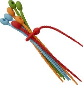 Herbruikbare Tie wraps - Tywrap herbruikbaar - siliconen kabelbinders - 21 centimeter - 8 pack