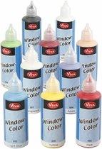 Window Color, kleuren assorti, 10x80 ml