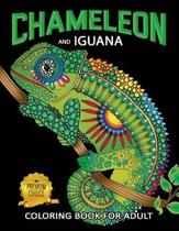 Chameleon and Iguana Coloring Book for Adults