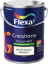 Flexa Creations Muurverf - Extra Mat - Mengkleuren Collectie - Wit Citroengras  - 5 liter