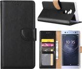Sony Xperia XA2 Ultra portemonnee cover hoesje / boektype case Zwart