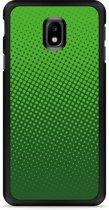 Galaxy J3 2017 Hardcase Hoesje groene cirkels