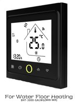 Levabe Wifi slimme Thermostaat GA LW voor WATER Vloerverwarming | Bediening via de App | Google Home | Amazon Alexa | Nederlandse beschrijving| Zwart| water vloerverwarming