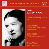 Lehmann: Lieder Recordings,Vol. 3