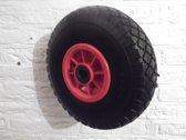 anti lek wiel 3.00-4, asgatdiam.20mm, voor steekwagen, bolderkar etc.