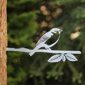 Huismus RVS - By Aimy Birds - 34,3 x 14,6 cm  BxH