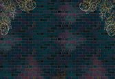 Fotobehang Luxury Brick Wall | XXL - 312cm x 219cm | 130g/m2 Vlies