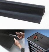 Rubber loper / Antislip / Rib n Roll fine rib 3 mm / 120 cm x 10 mtr / zwart