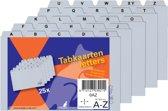 HF2 Index Kaarten 100/110  x 148 mm A-Z 25 tabs