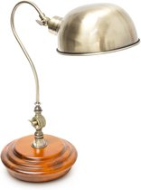 relaxdays Tafellamp retro design - Leeslamp verstelbare arm en lampenkap - Bureaulamp.
