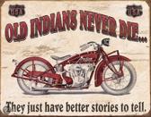 Signs-USA Indian Better Stories - Retro Wandbord - Metaal - 40x30 cm