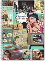 Ringband Vintage Fifties Lerarenagenda / Docentenagenda 2019 - 2020