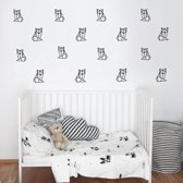 Muursticker set figuren vosjes geometrisch | slaapkamer - babykamer - kinderkamer | hip - modern