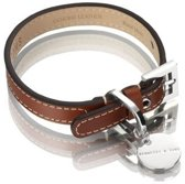 Hennessy and Sons Royal - Hondenhalsband - Rood bruin - maat L